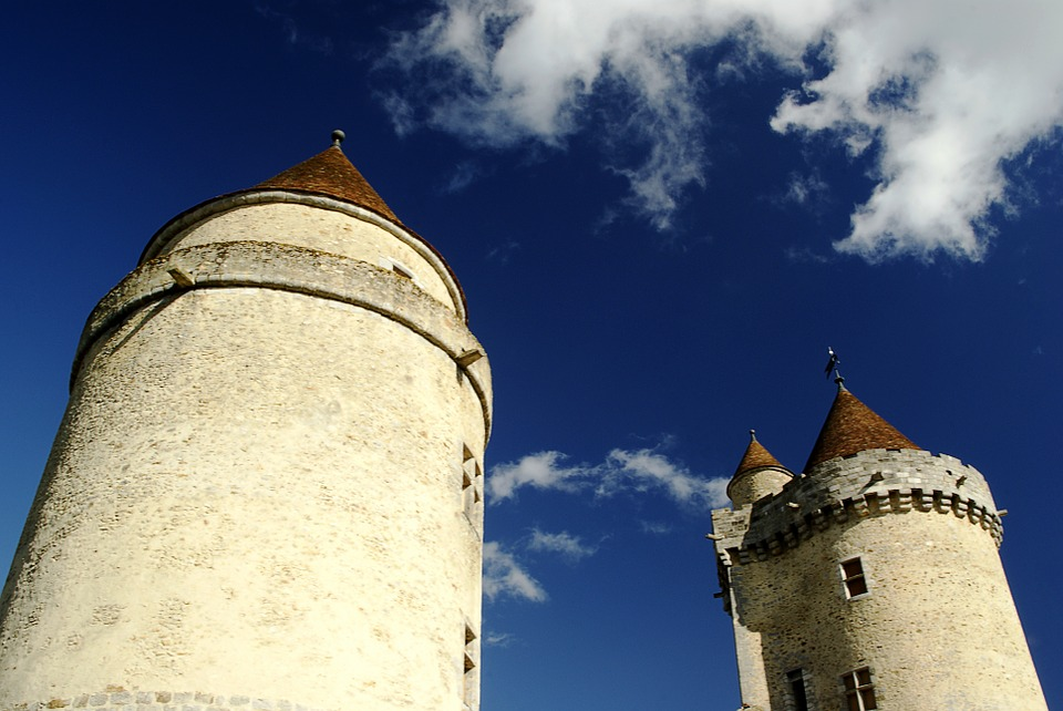 Blandy Towers, Castle, Fort, Tower, Heritage, France