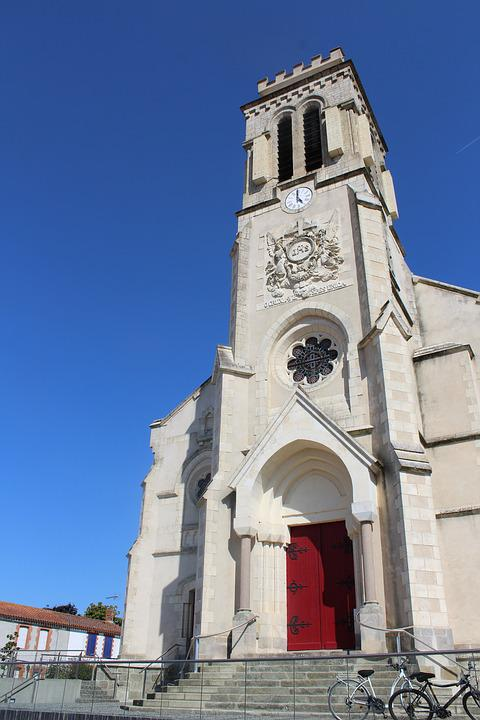 Church, Saint Christophe Du Ligneron, Vendée, France