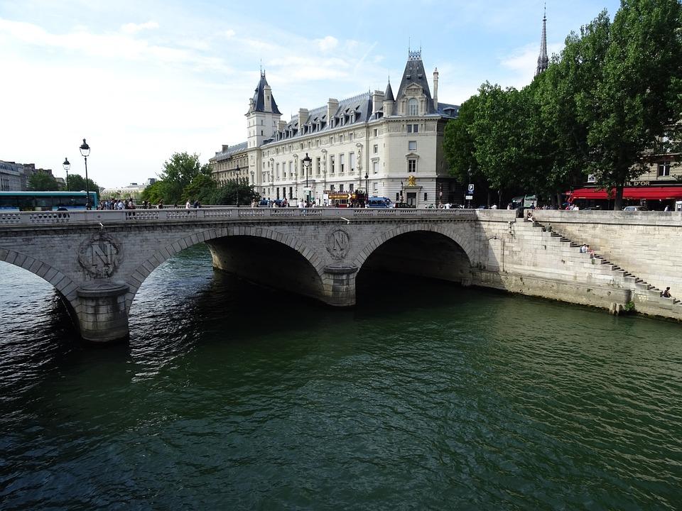 Paris, Seine, River, Bridge, Water, France, City