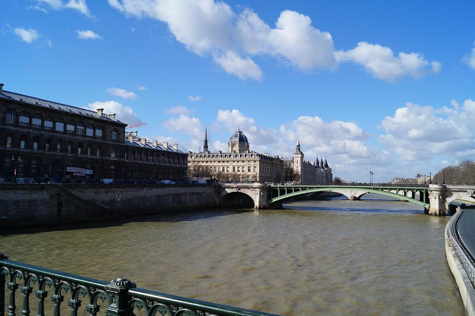 Paris, River, Seine, City, France, Travel, Bridge