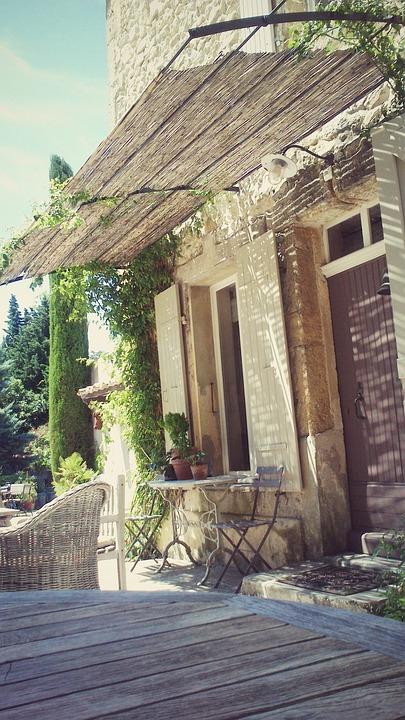 France, Door, Hotel, Mood, Sun, Architecture, Cozy
