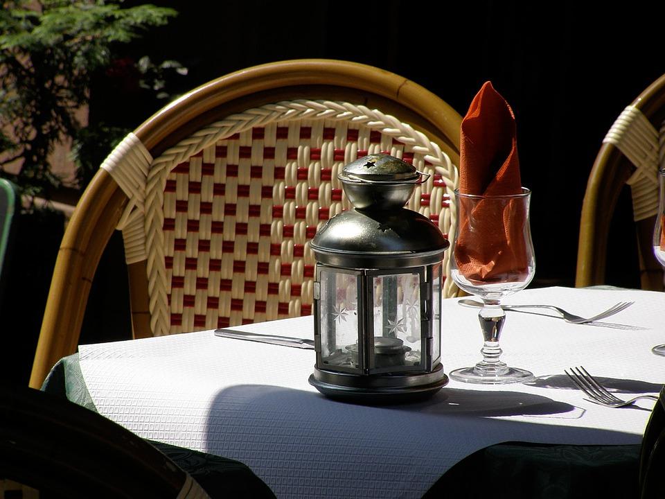 Bistro, France, Dine, Cutlery, Mood, Sunlight