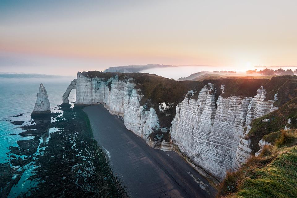 Etretat, France, Normandy, Sea, Landscape, Beach