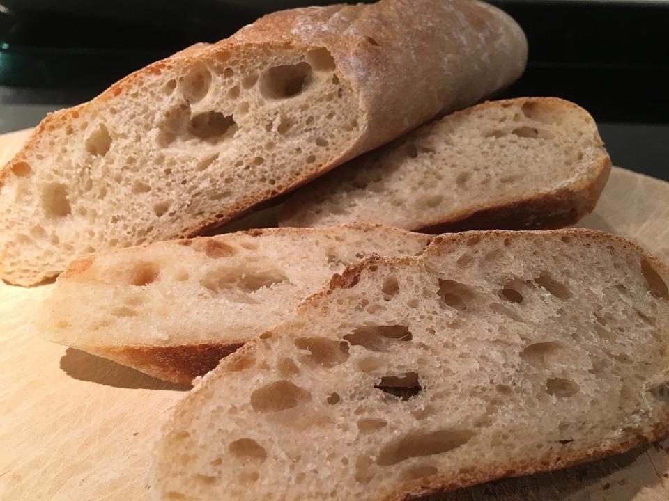 Bread, Baguette, France, Cut, Baked, Bake, Food