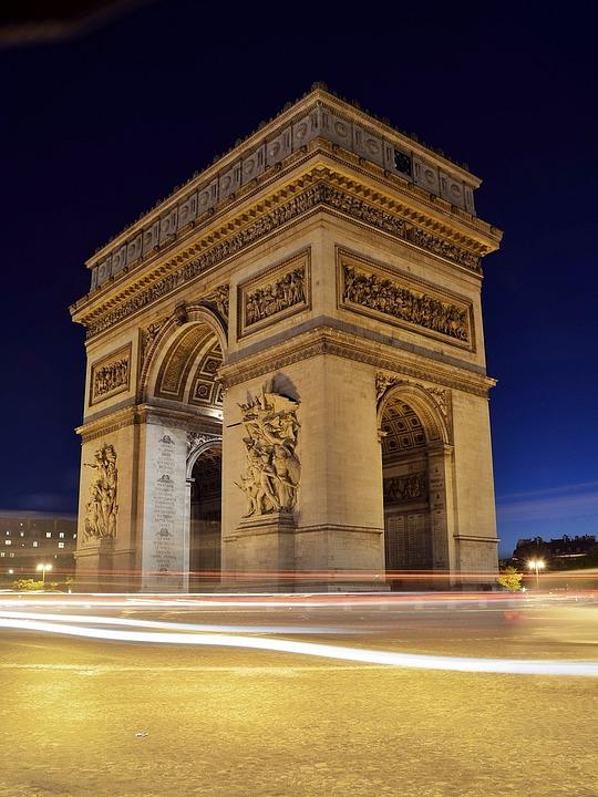 Arc De Triomphe, Paris, France, Europe, French