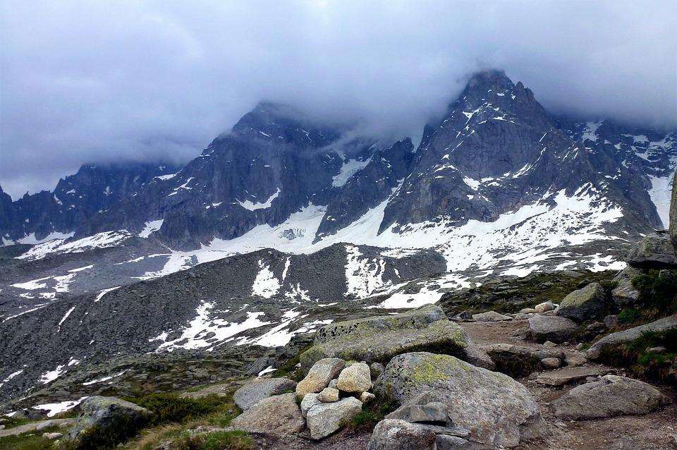 France, Alps, Haute Savoie, Mountain, Snow, Panoramic