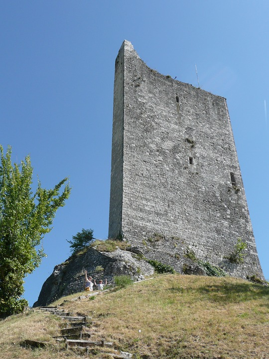 Tower, Old, Hill, Air, France