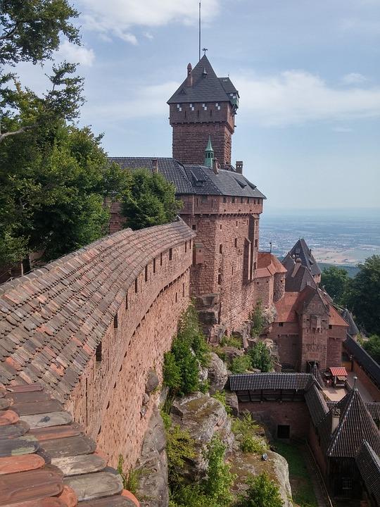 Castle, Alsace, Koenigsbourg, France, Building
