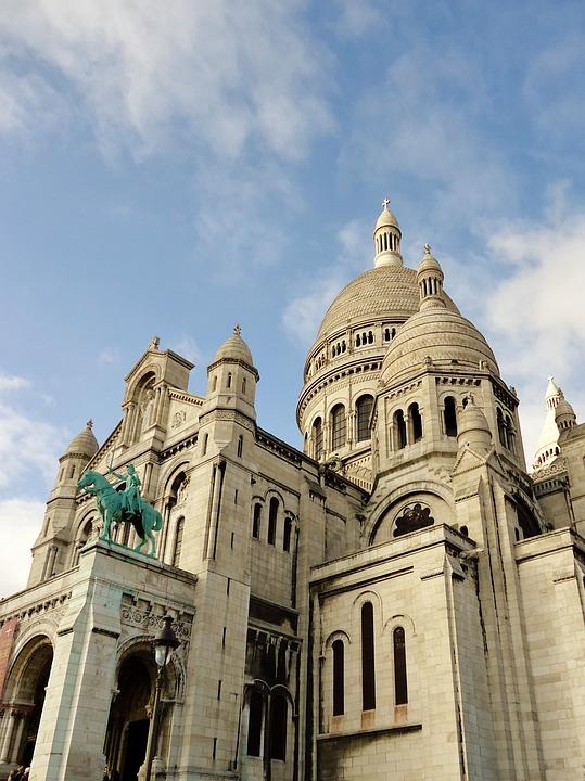 Free Photo France Montmartre Sacred Heart Basilica Paris