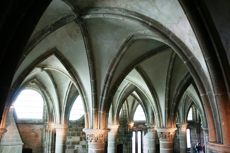 Mont Saint-michel, Abbey, Normandy, France, Middle Ages