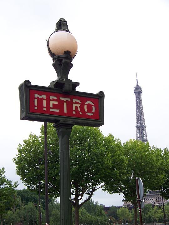 Paris, France, Metro, Eiffel Tower, Europe