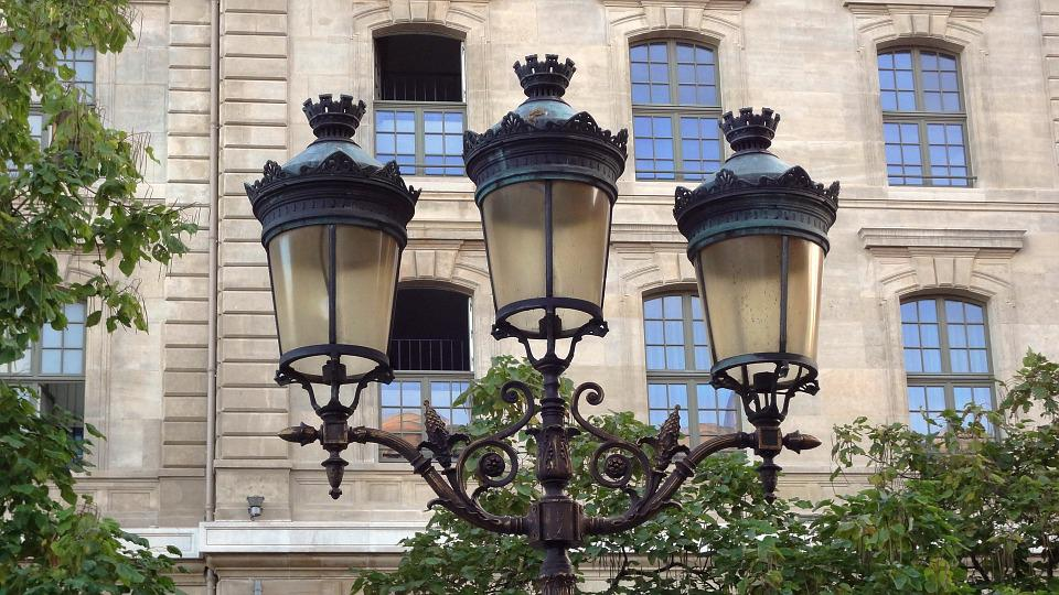 Paris, Light Pole, Lighting, France