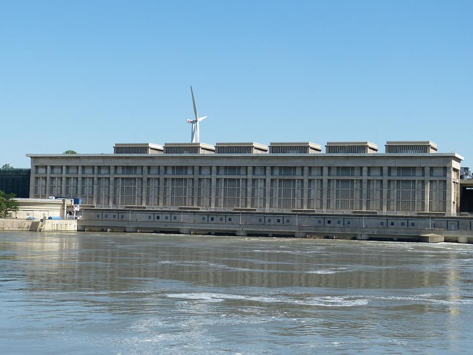 Rhône, Power Plant, River, Energy, Electricity, France