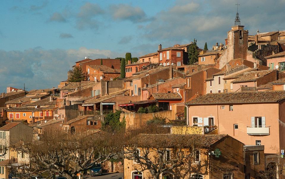 France, Roussillon, Village, Luberon