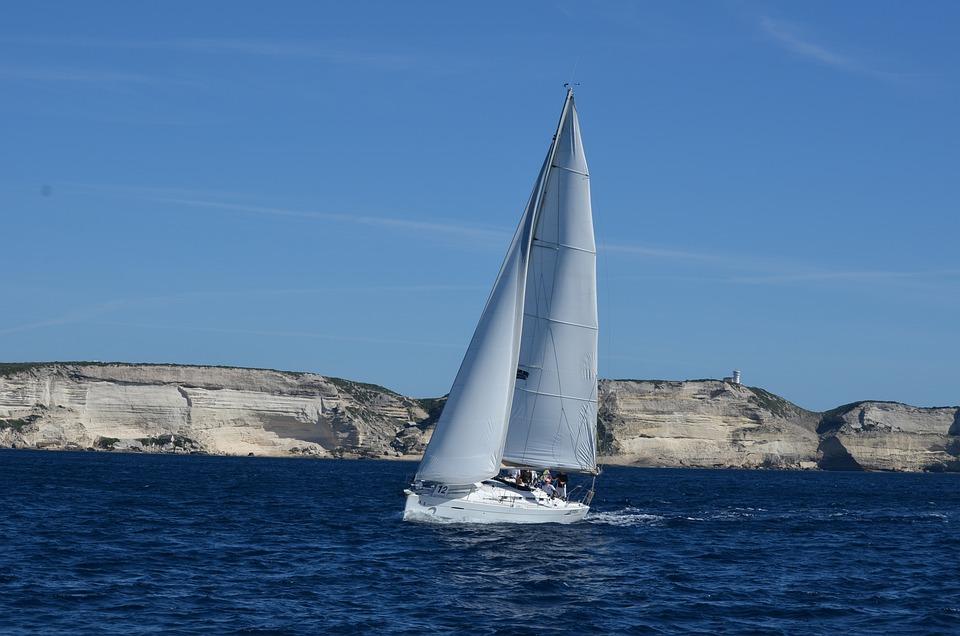 Sailing Boat, Corsica, Sea, France, Coast, Water