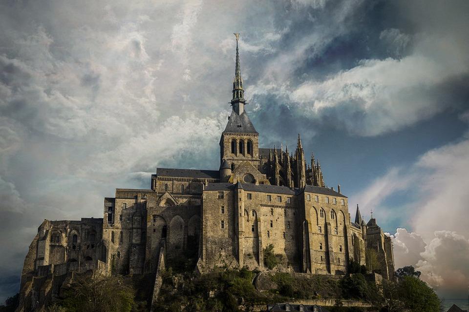 Landscape, France, Saint-michel, Monument