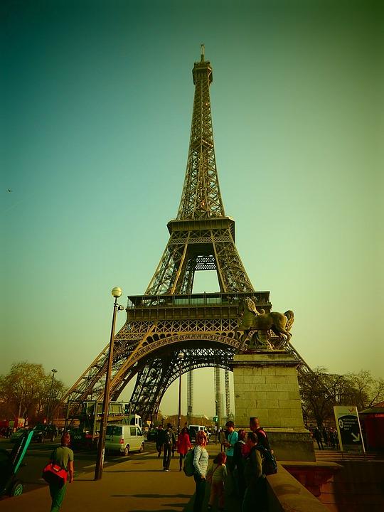 Eiffel Tower, Paris, France, Steel Structure, Steel