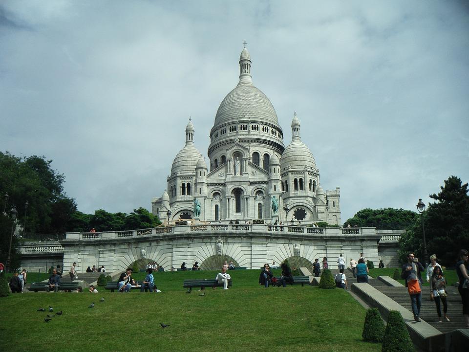 Free Photo France The Basilica Sacre Coeur Paris Temple