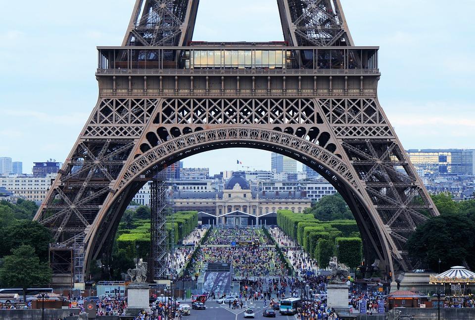 Eiffel Tower, Arch, Tourism, Crowd, Paris, France