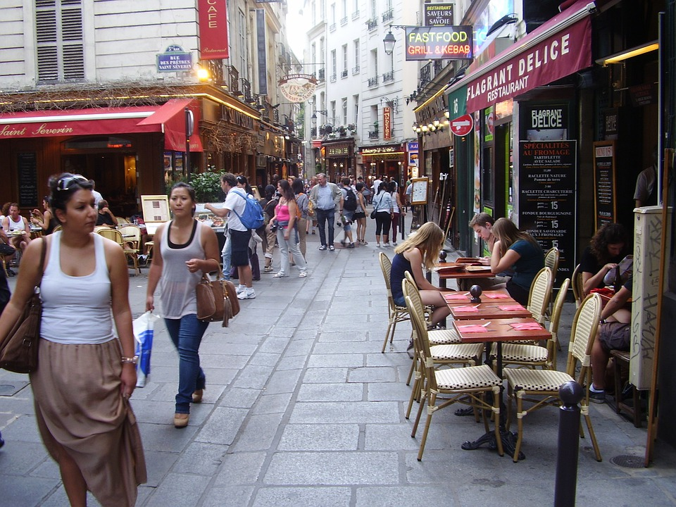 Typical Street, Quartir Latin, Paris, France