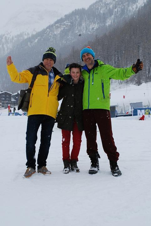 Valdesere, Ski, Vacation, Family, Winter, France, Son