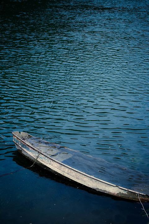 Boat, Water, River, France, Blue