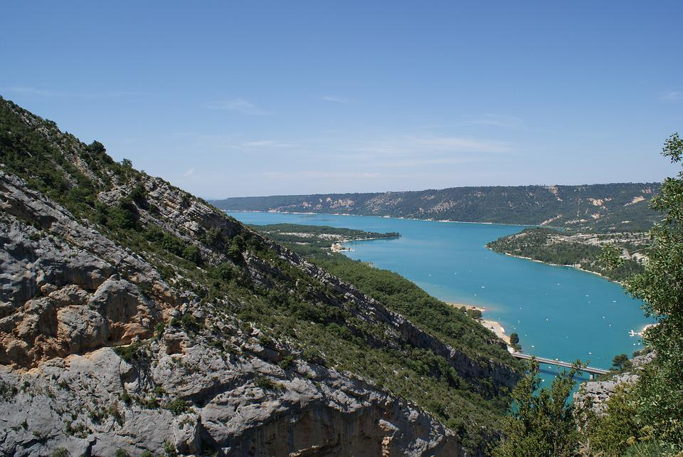 Gorges, Verdon, Mountains, France, Water, Green, River