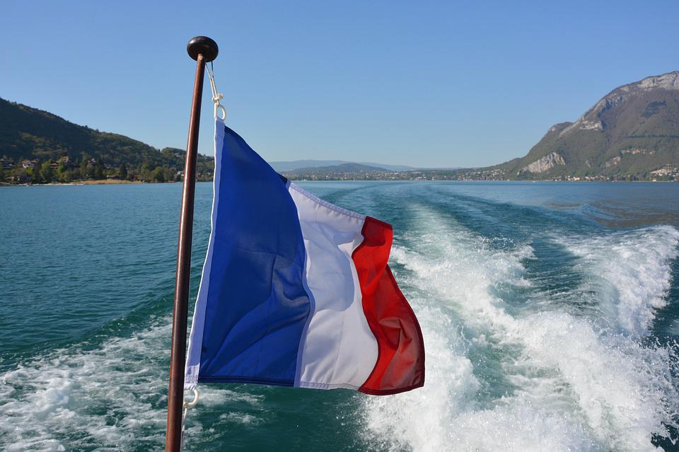 Flag, French, France, Tricolor, Blue, White, Red, Sky