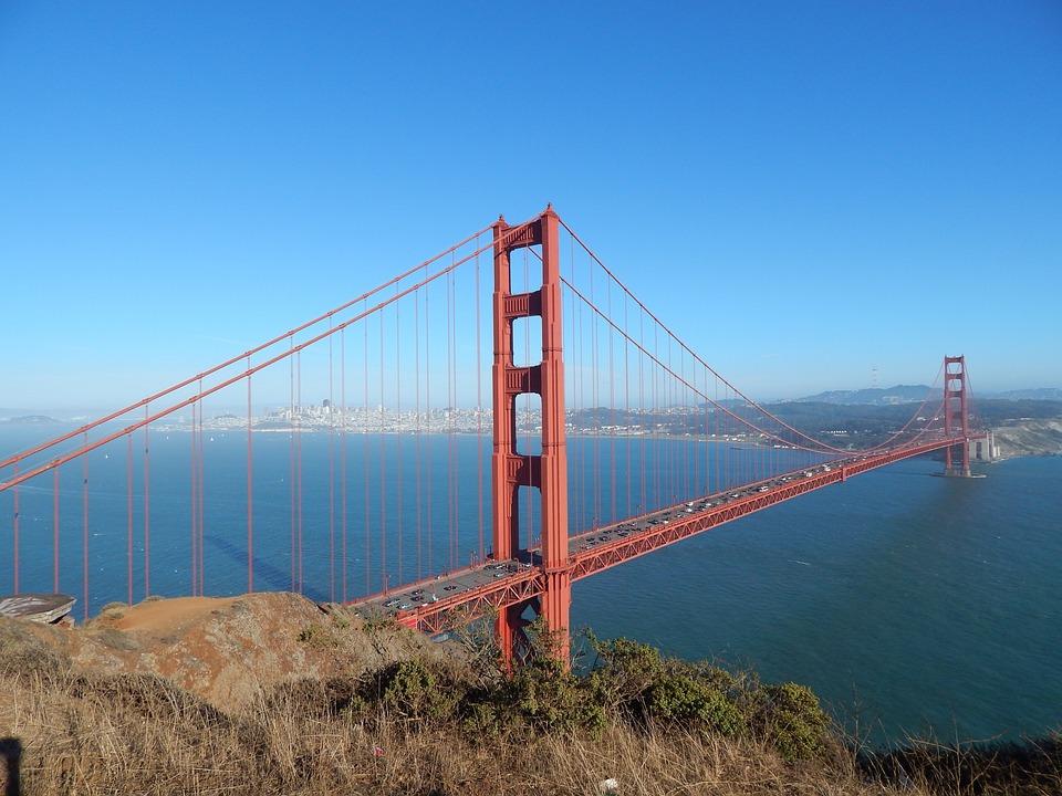 Bridge, Golden, Gate, San, Francisco, California, Bay