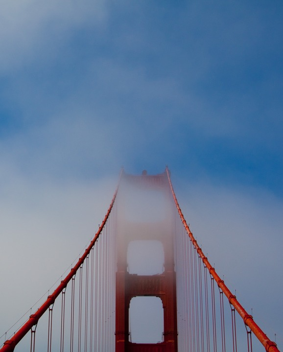 Golden Gate Bridge, Bridge, Sky, Francisco, Bay, Sea