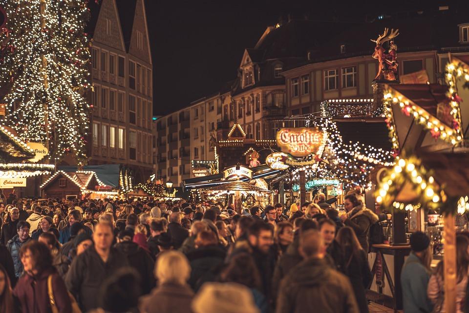 Christmas Market, Christmas, Frankfurt, Germany, Advent