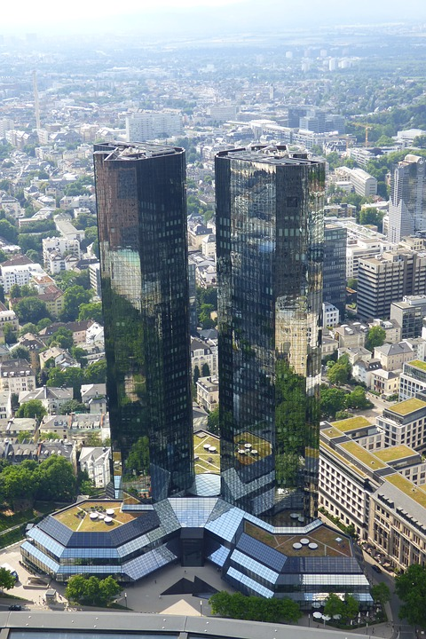 Frankfurt Main, View From Viewpoint, Two Towers