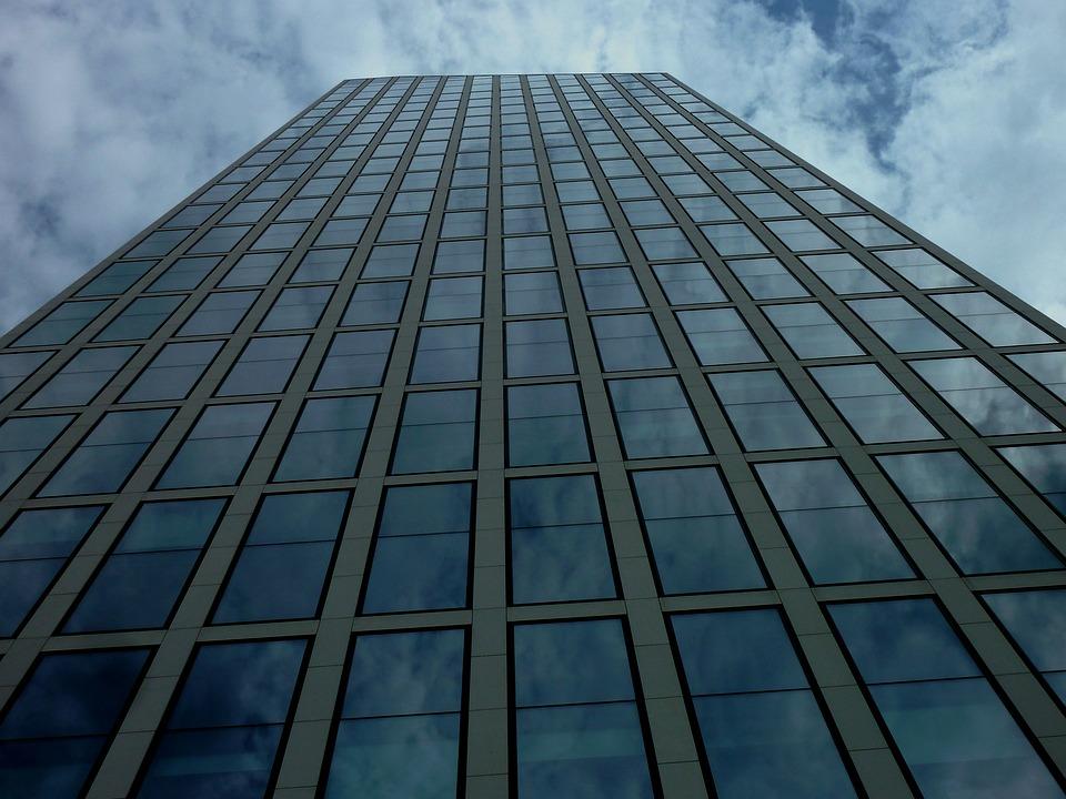 Skyscraper, Frankfurt, Building, Facade, Architecture
