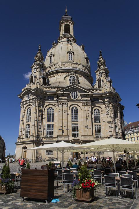 Church, Dresden, Frauenkirche, Germany, Building, Dome