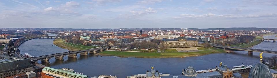Panorama, Dresden, Elbe, Frauenkirche
