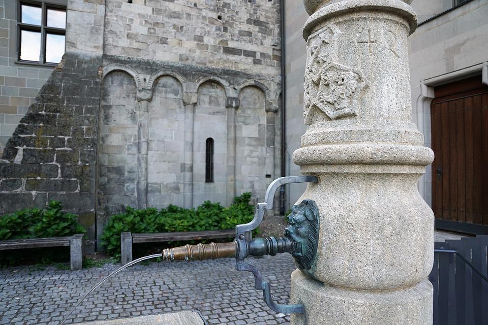 Fountain, Water, Bad, Fraumünster, Zurich, Church