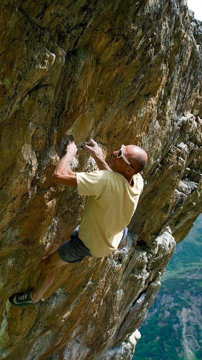 Mountains, Rock, Rock Wall, Climber, Free Climber