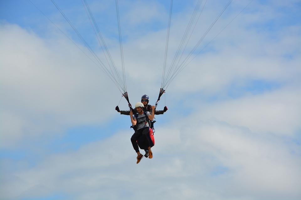 Paragliding, Landing, Built Its Approach, Free Flight
