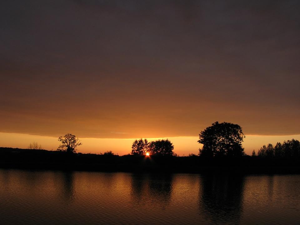 Nature, France, Sunset, River, Landscape, Free Image