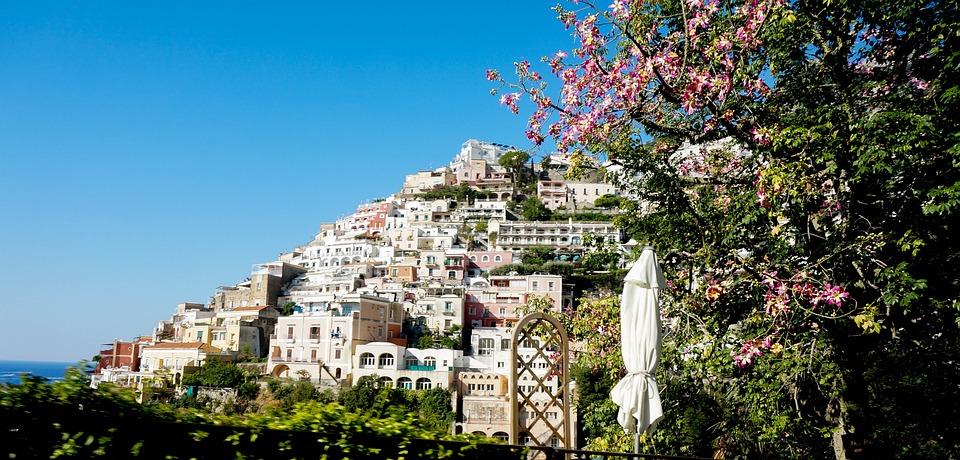 Italy, Free, Coast, Sea, Houses, Location, Hillside