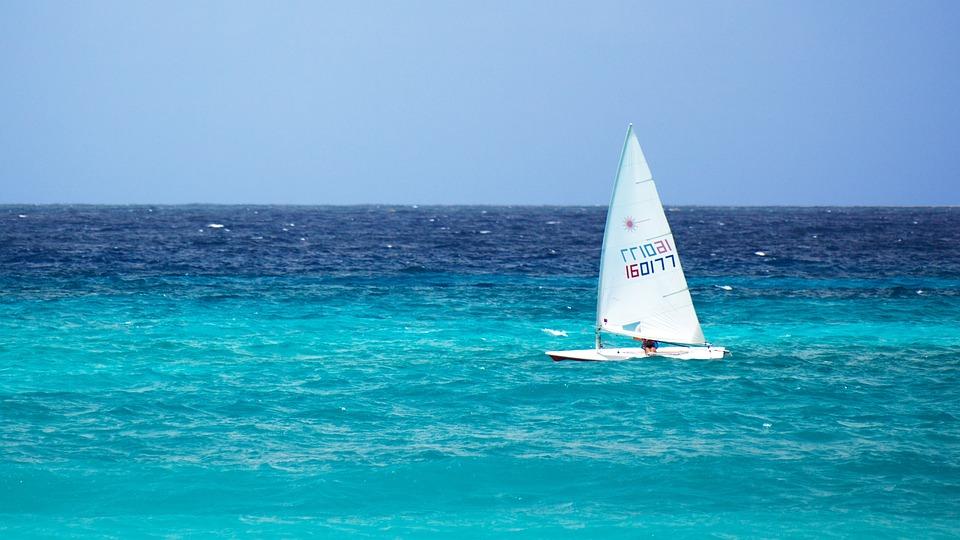 Blue, Boat, Freedom, Horizon, Ocean, Sail, Sailboat