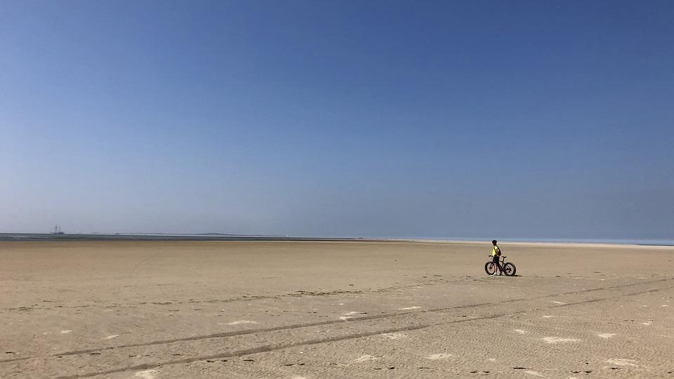 Beach, Fatbike, Emptiness, Freedom