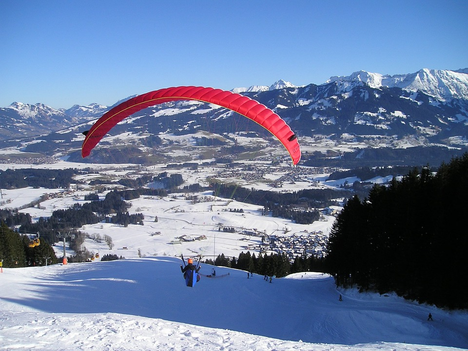 Paragliding, Fly, Paraglider, Mountains, Freedom