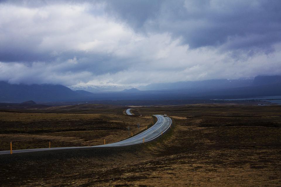 Road, Iceland, Horizon, Infinite, Cloud, Freedom