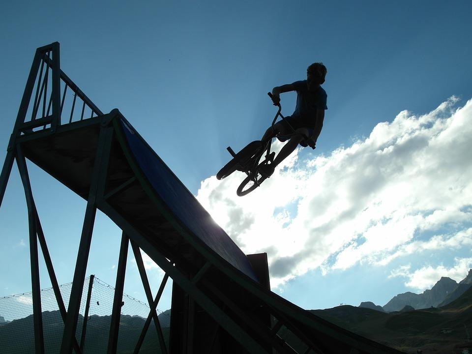 Bmx, Shadow, Bicycle, Bike, Jump, Freestyle, Silhouette