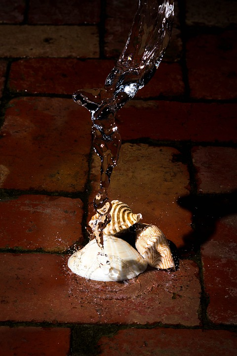 Shells, Water, Freeze, Splash, Bricks, Brick