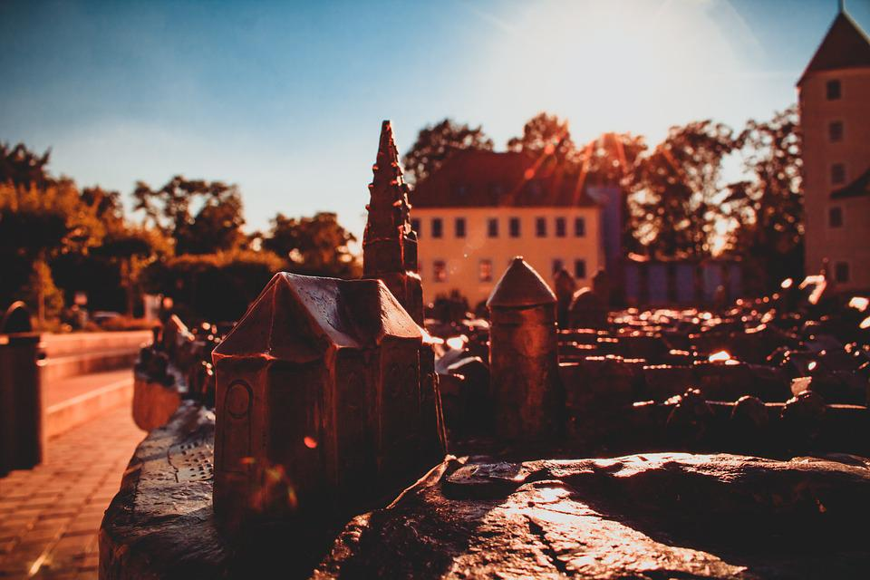 Freiberg, Castle, Joy Stone, Backlighting, Historically
