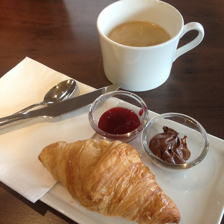 Paris, Breakfast, Croissant, Morning, French