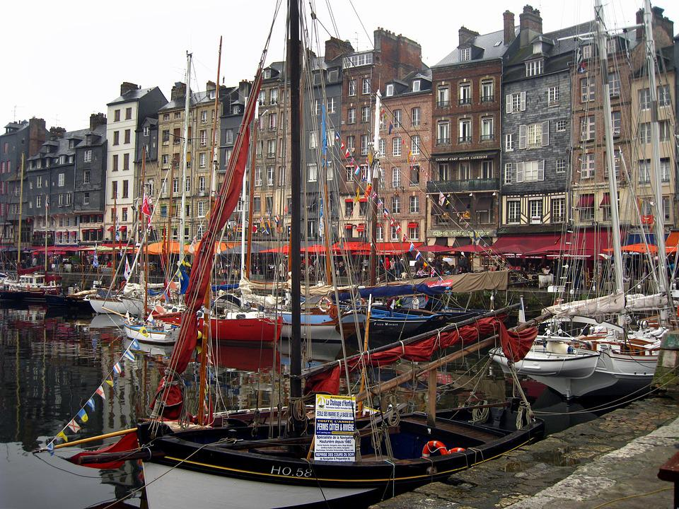 France, Honfleur, Harbor, French, Normandy, Traditional