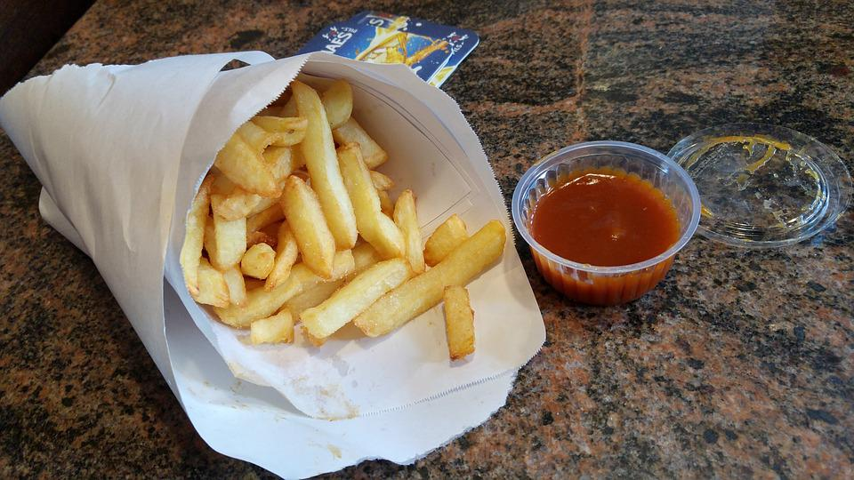 Belgian Fries, French Fries, Fries, Chips, Takeaway